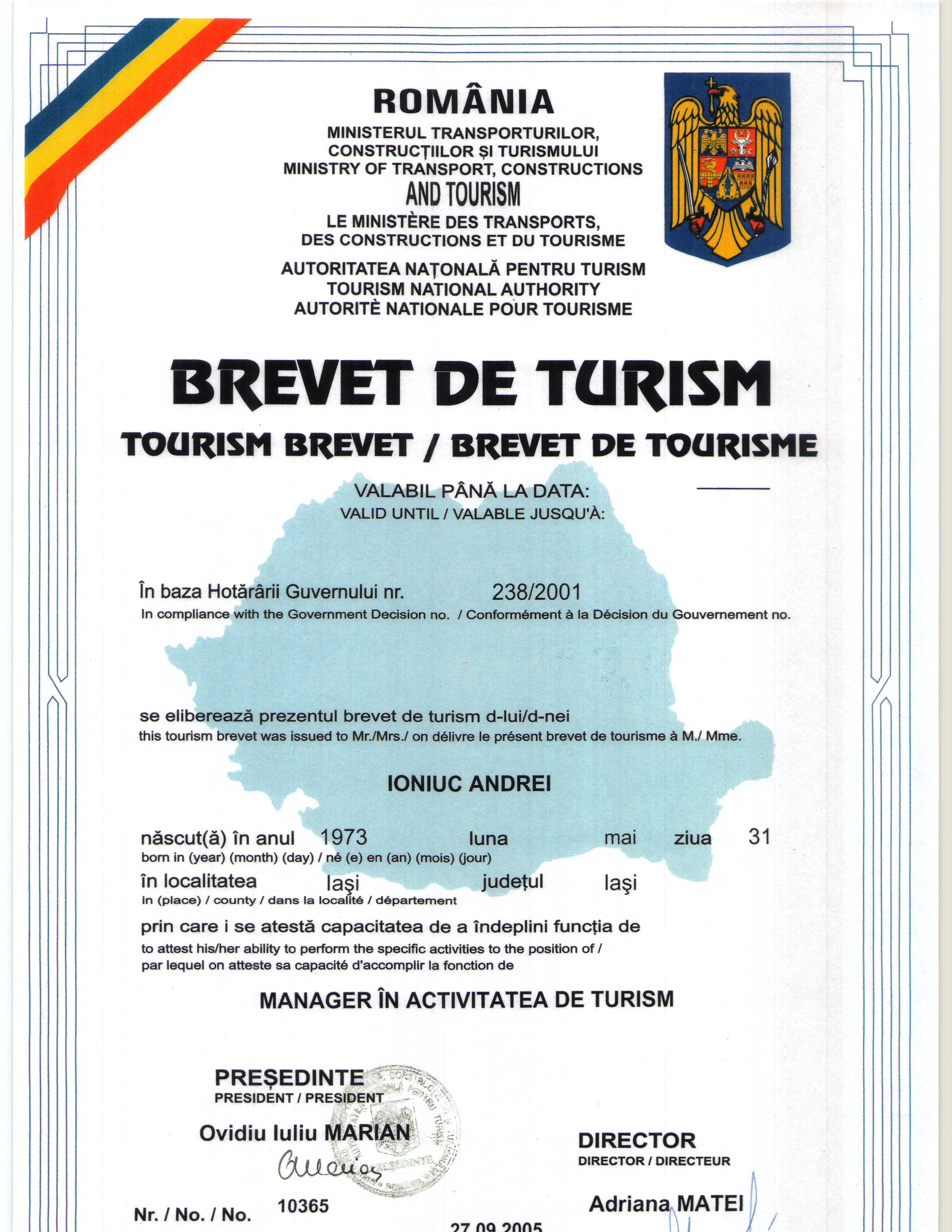 Brevet Turism - Hotel Majestic