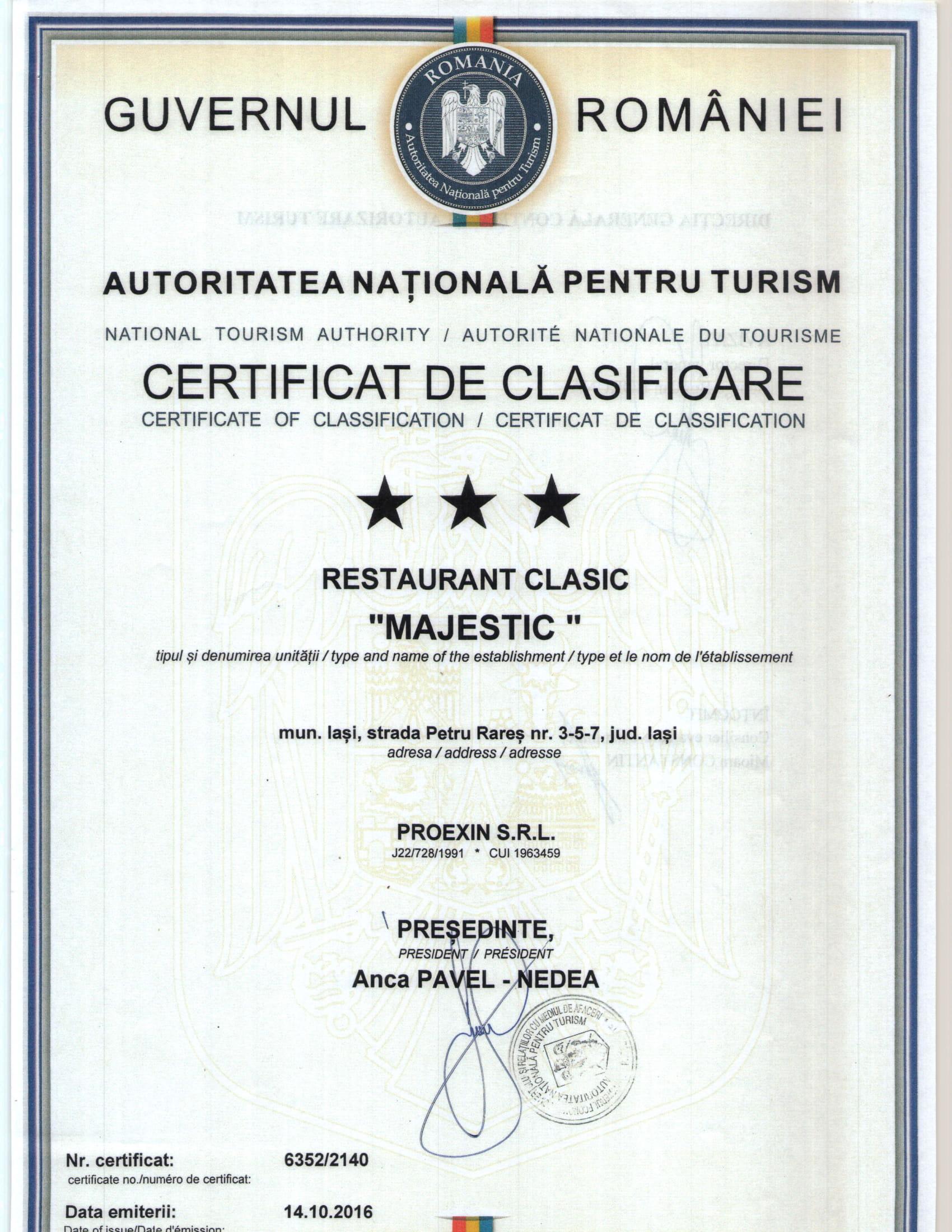 CERTIFICAT CLASIFICARE-3